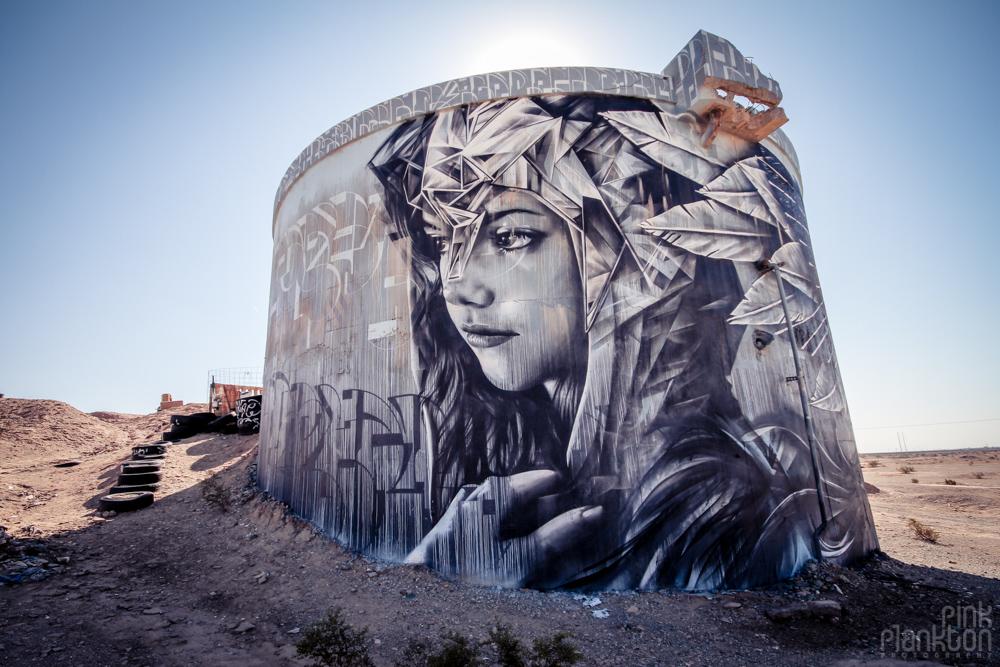 Slab City street art graffiti on military bunkers