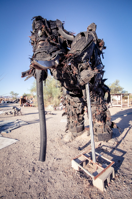 Slab City East Jesus art sculpture
