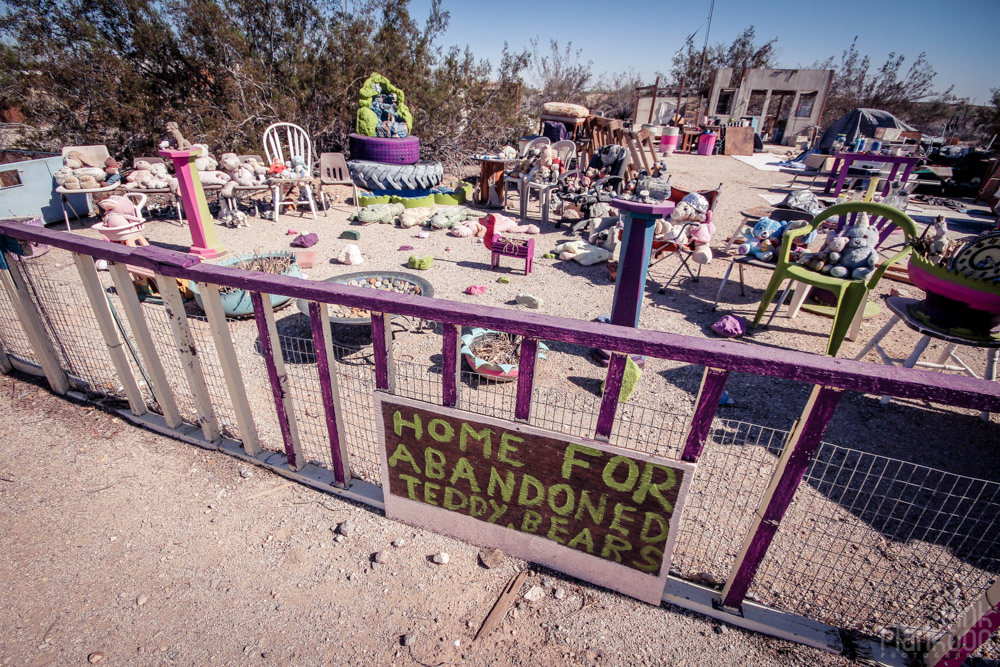 Slab City Home for Abandoned Teddy Bears