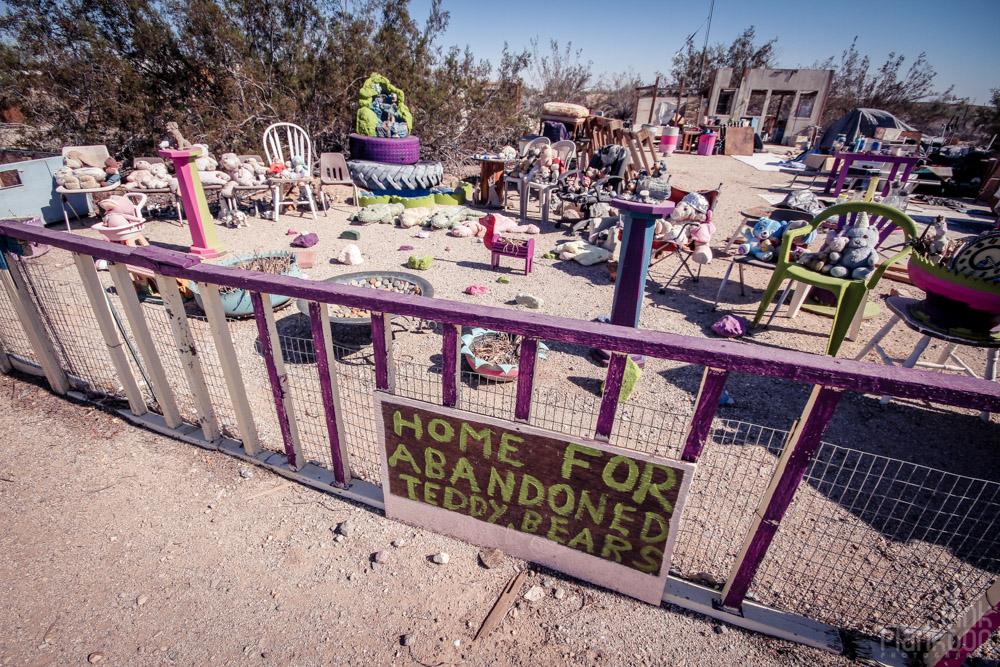 Slab City Home for Abandoned Teddy Bears