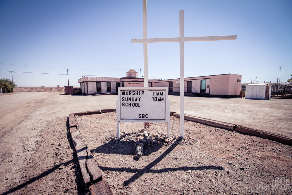 Bombay Beach church
