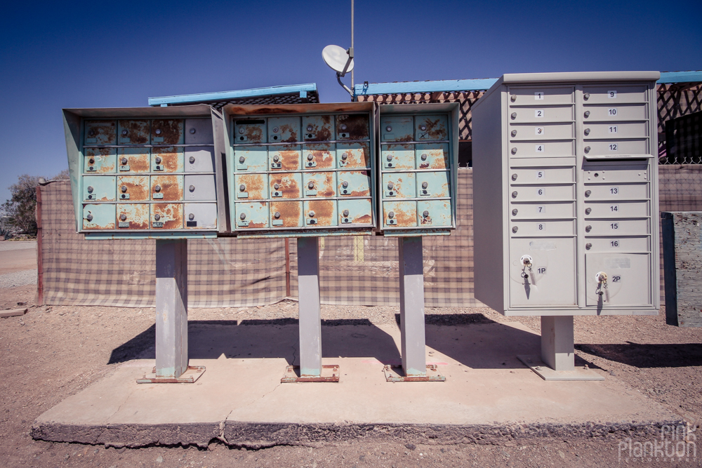 Bombay Beach mailboxes