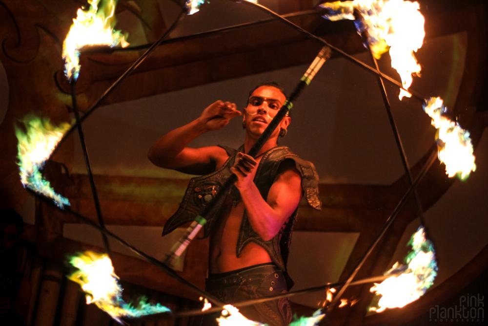 Envision Festival fire dancers pyrodanza