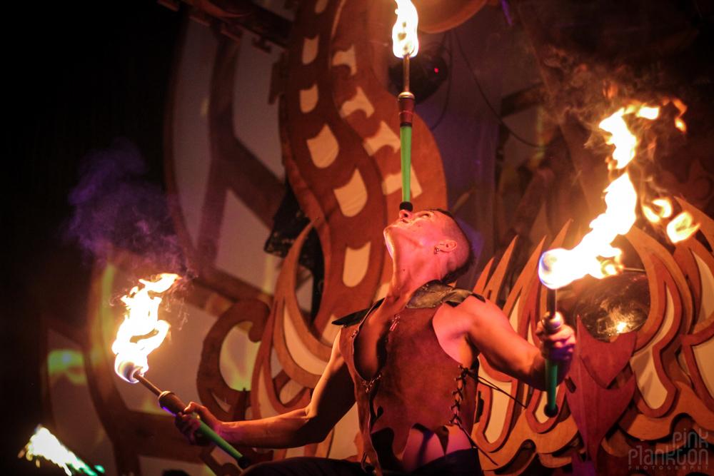 Envision Festival fire dancers