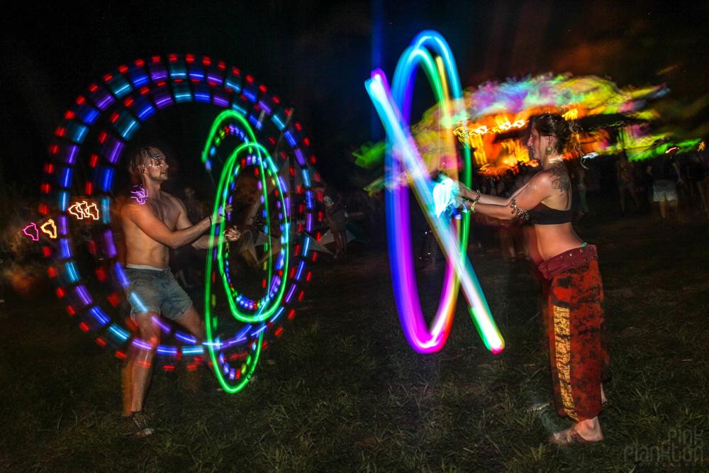 Envision Festival rainbow LED poi