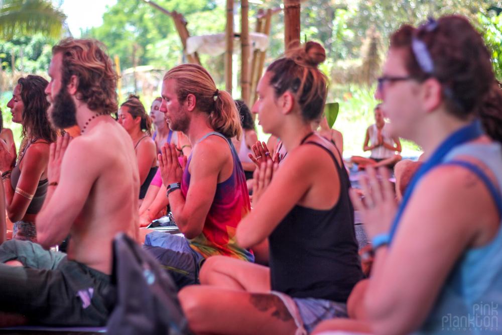 Envision Festival yoga class meditation