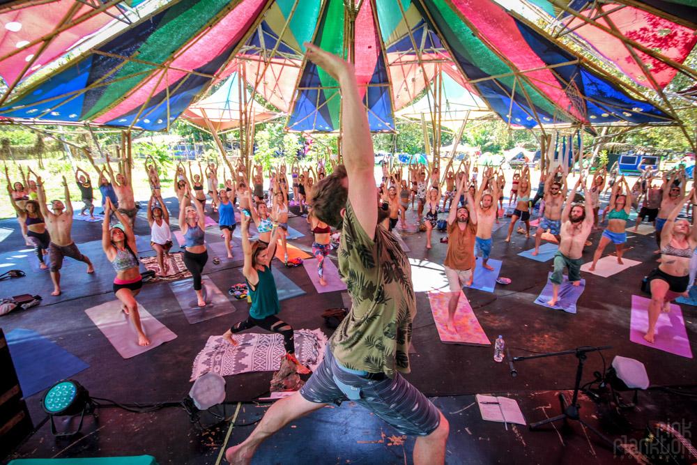 Envision Festival yoga class teacher