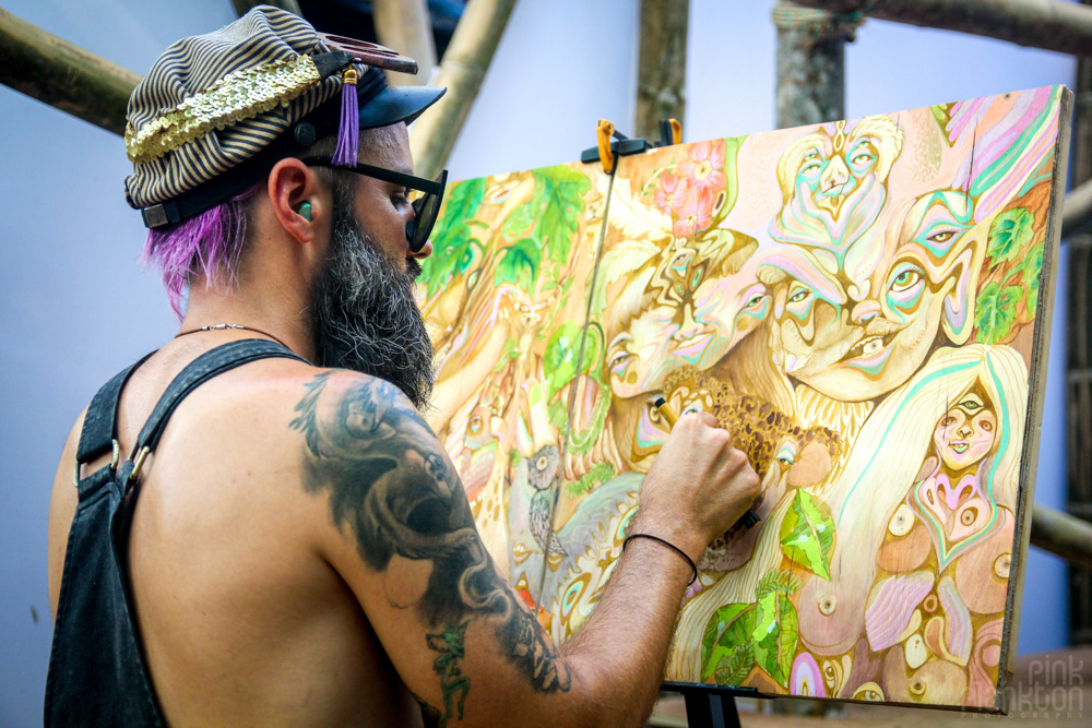 Envision Festival painter artist Brad Rhadwood