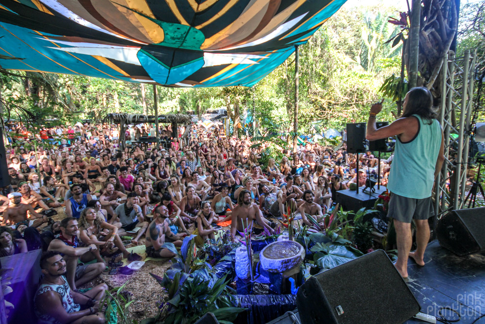 Envision Festival speaker and audience