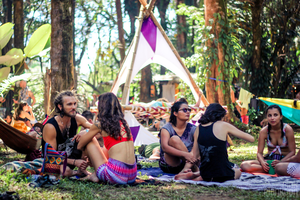 Envision Festival people chilling