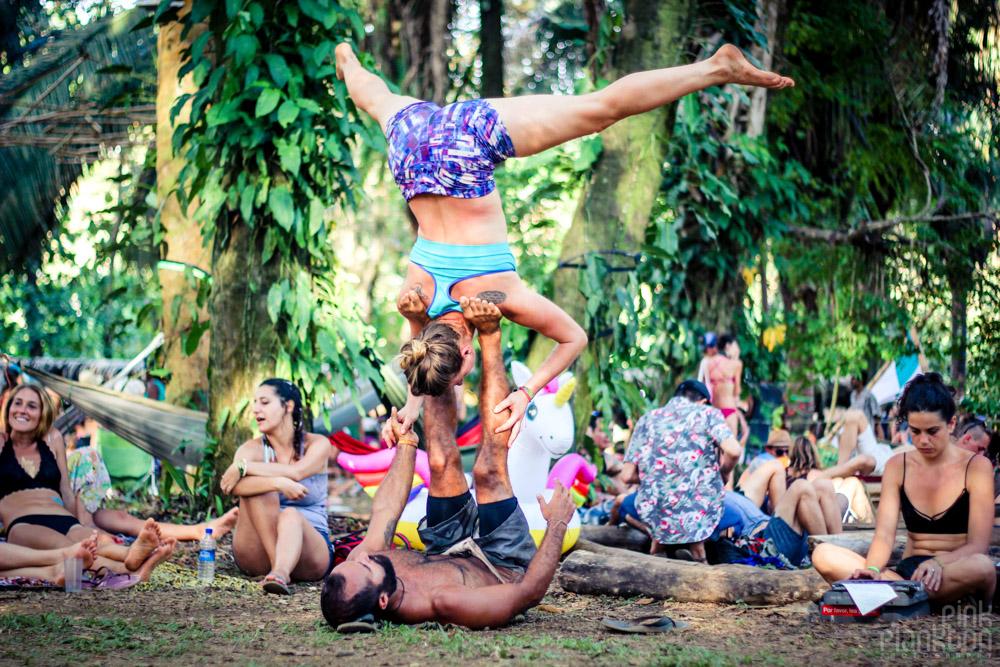 Envision Festival acroyoga