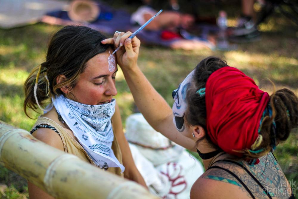 Festival Ometeotl facepainting
