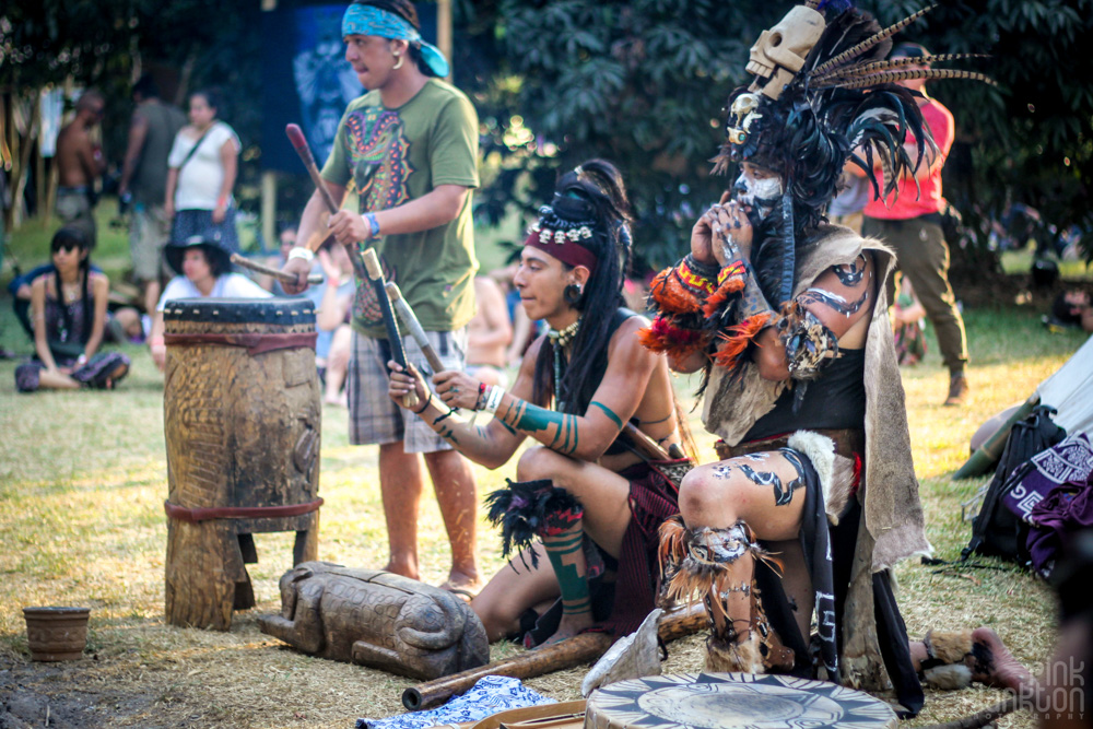 Festival Ometeotl Indigenous tribe performing