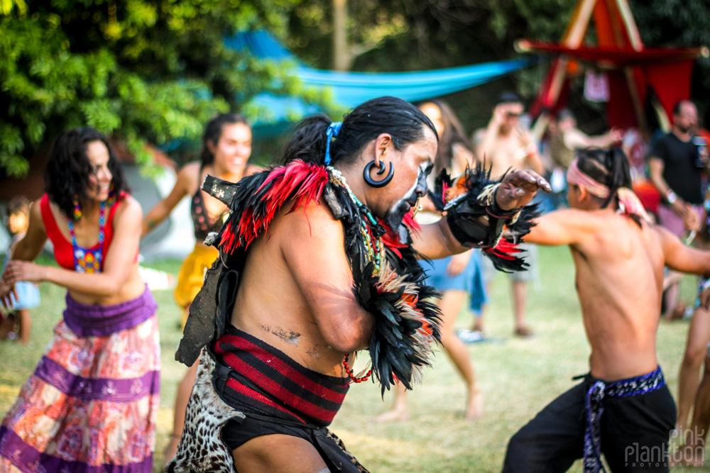 Festival Ometeotl Indigenous tribe dancing