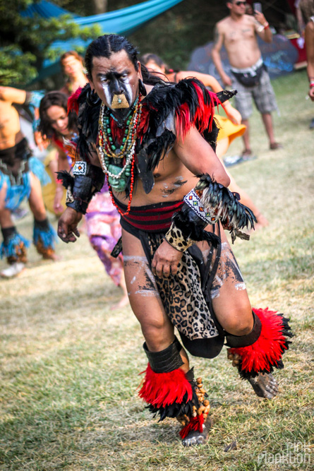 Indigenous tribe dancer at Festival Ometeotl