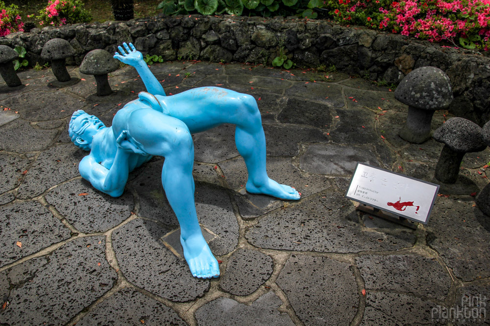dirty statue at Love Land in South Korea