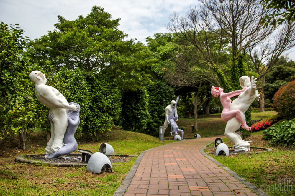 dirty statues at Love Land in South Korea