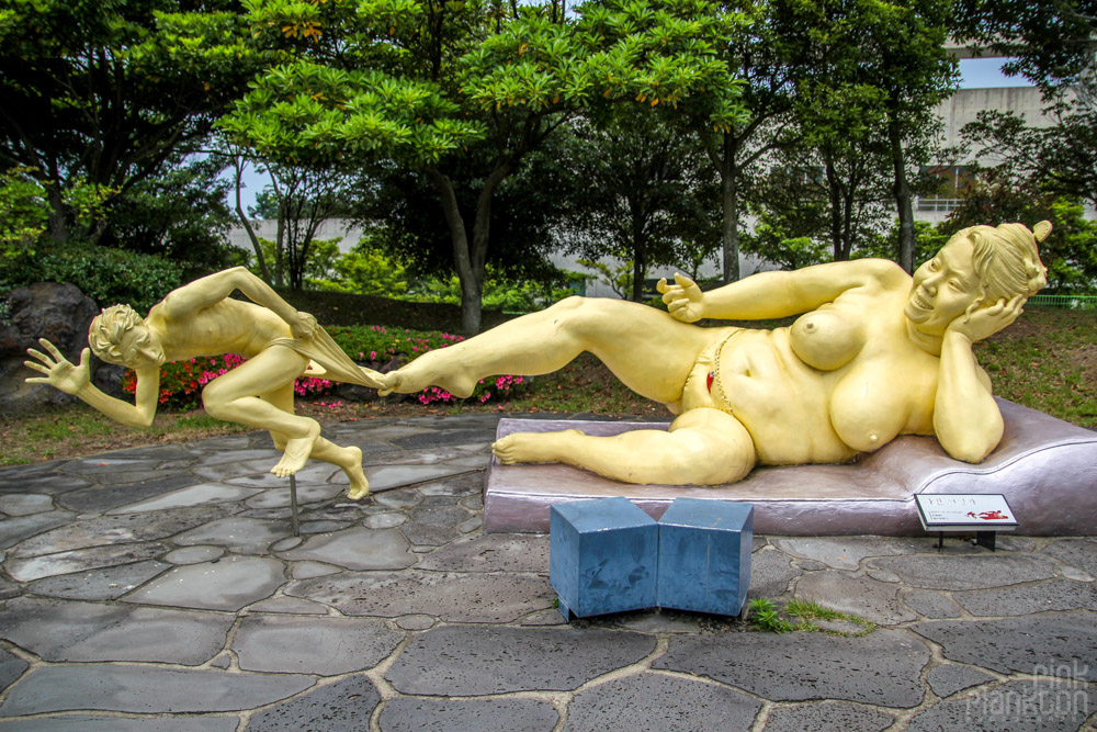 statue of fat female at Love Land in South Korea