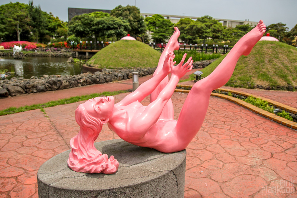 girl having sex statue at Love Land in South Korea