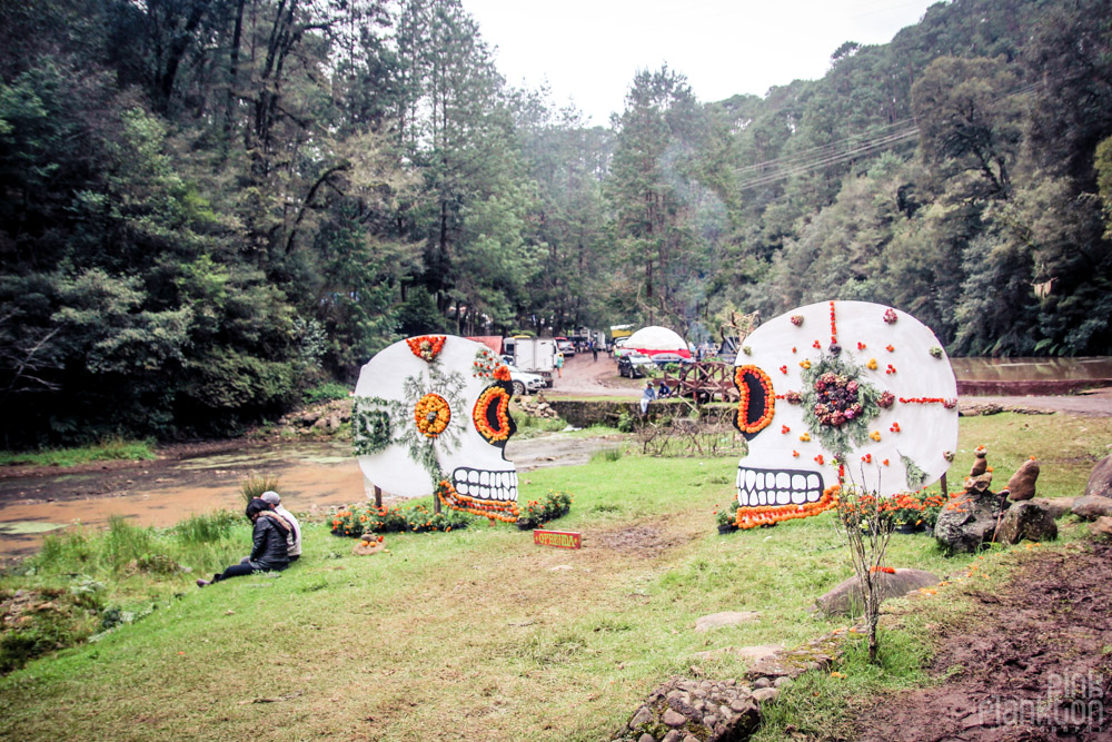 Poison Festival in Mexico skulls