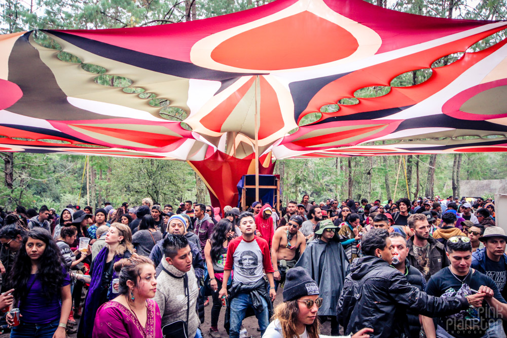 Poison Festival in Mexico high tech psytrance stage