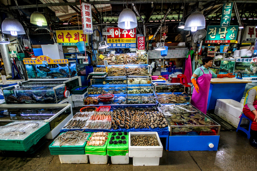 fish market in Seoul, South Korea