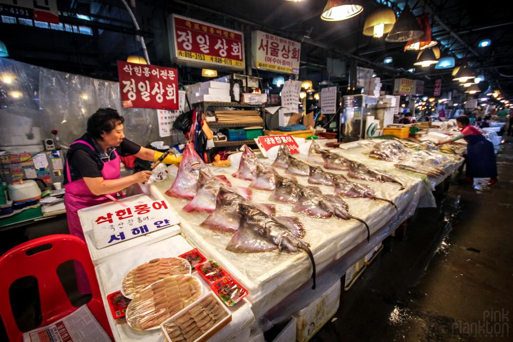 fish market in Seoul, South Korea