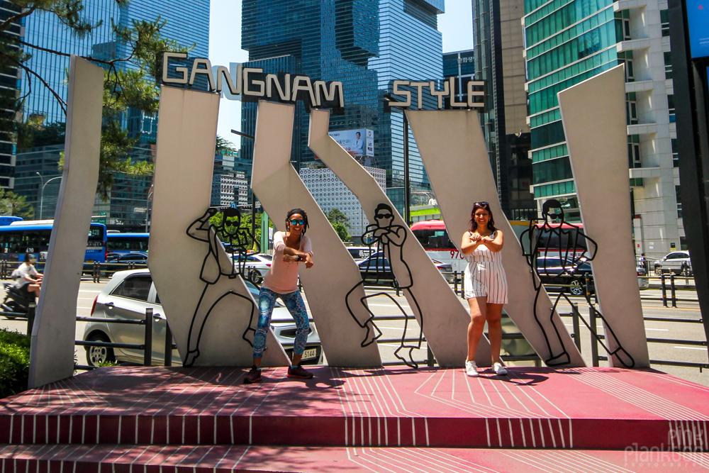 Gangnam style corner in Seoul