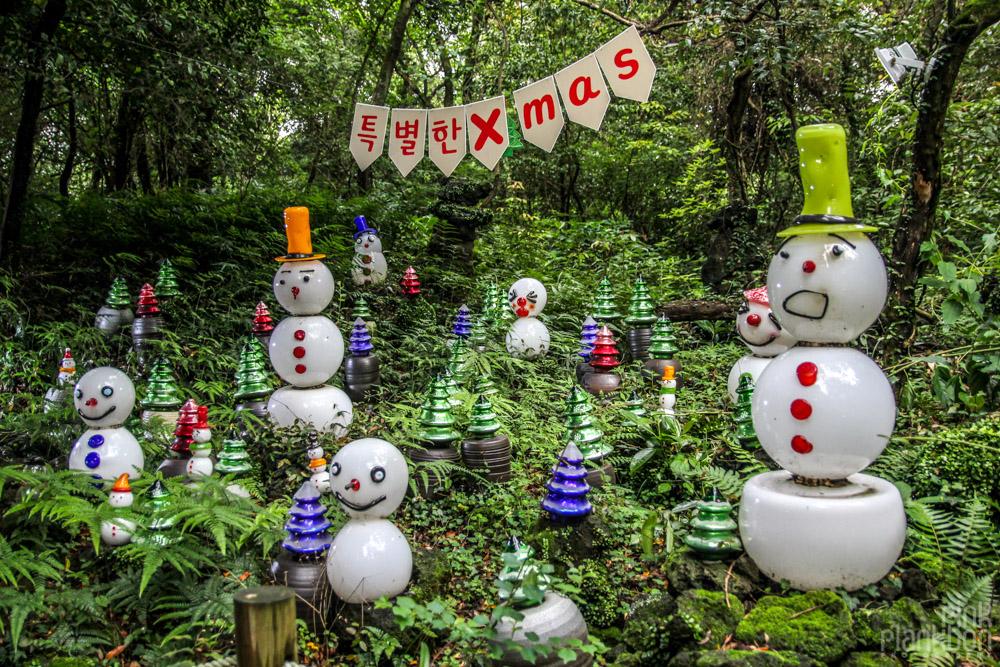 Christmas exhibit in South Korea's Jeju Glass Castle