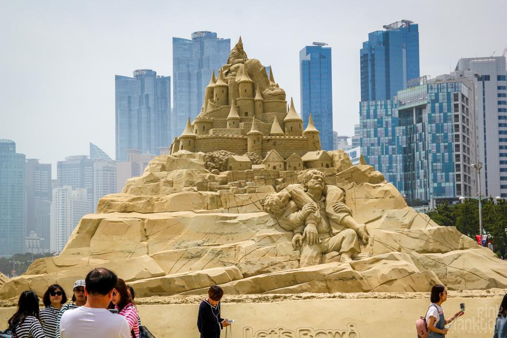 Haeundae Sand Festival in Busan Korea