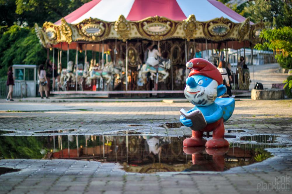 ride at Yongma Land Abandoned Theme Park in Seoul Korea