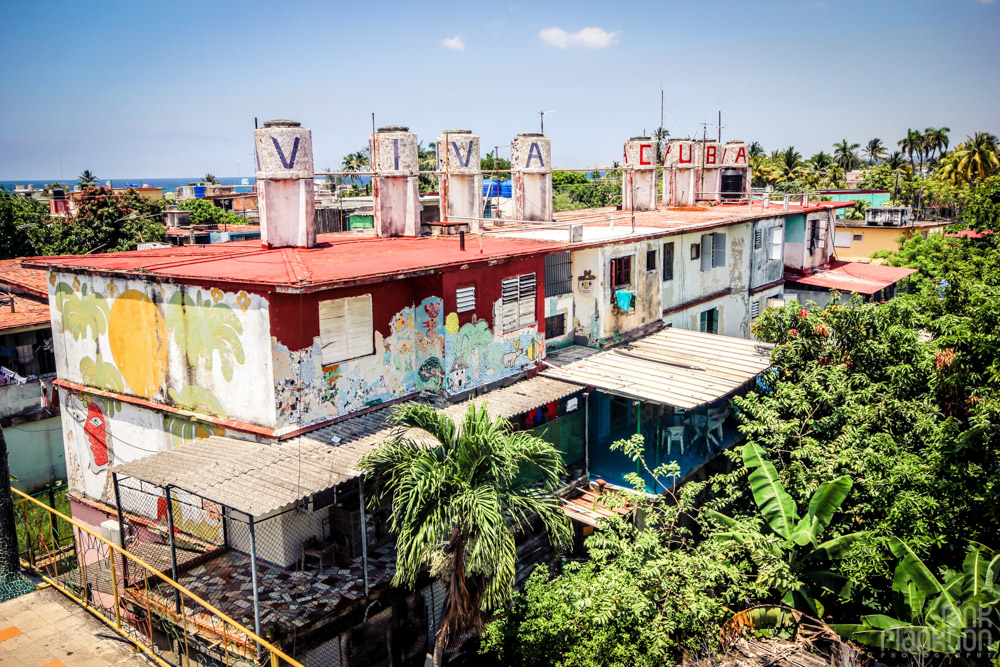 viva cuba building at Fusterlandia in Havana Cuba