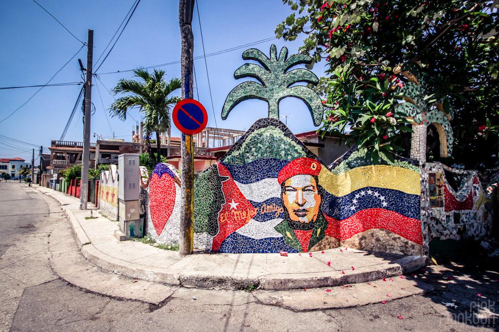 mosaic mural in Fusterlandia in Havana Cuba