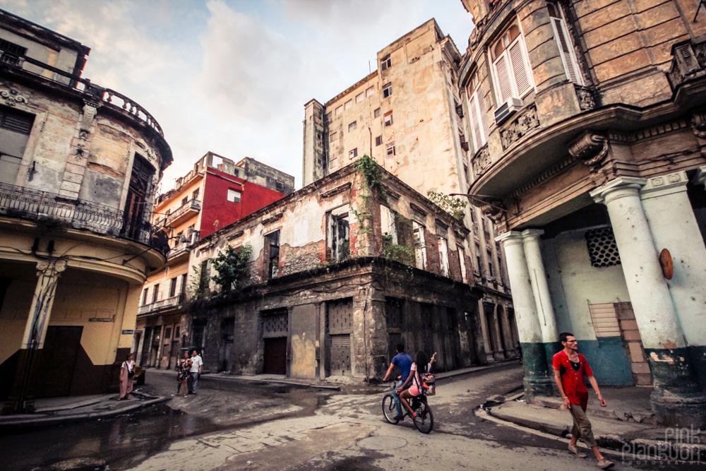 grungy street in Havana Cuba