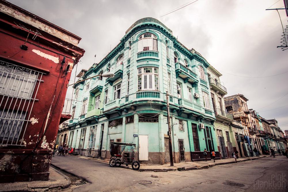 grungy street corner in Havana Cuba