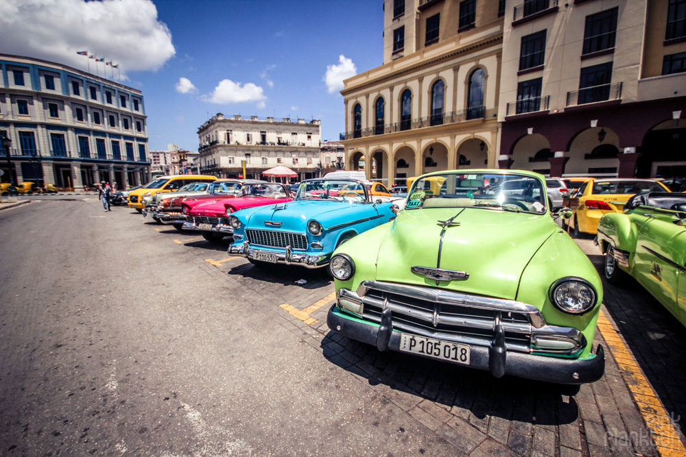 colorful classic cars in Havana Cuba