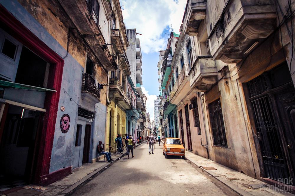 Havana, Cuba grungy street