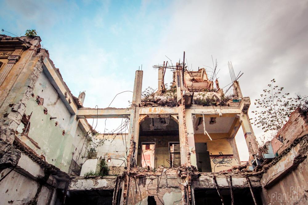 Havana, Cuba grungy rundown building