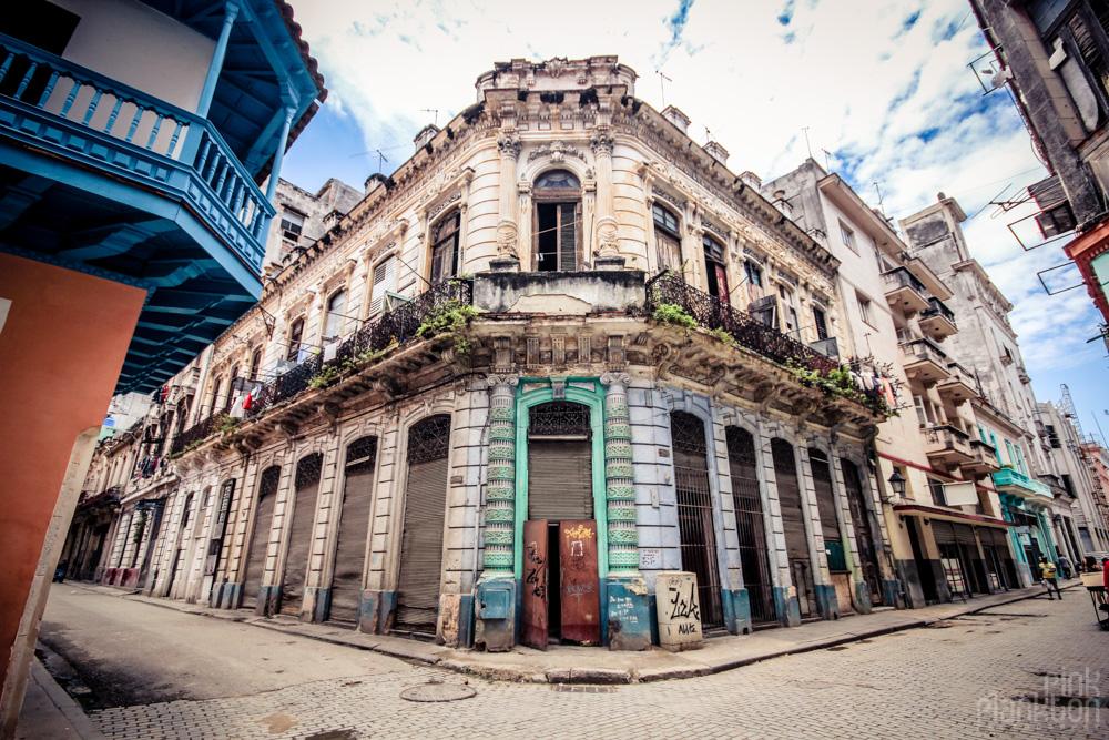 Havana, Cuba grungy street corner