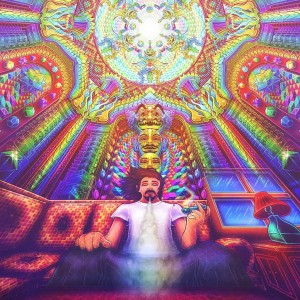 smoking DMT visionary artwork by Salvia Droid