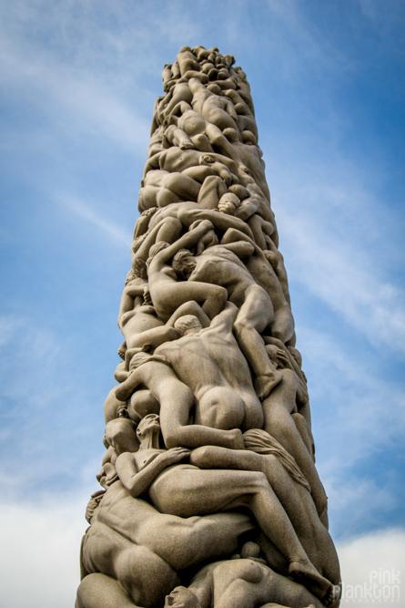 Vigeland Sculpture Park tower in Oslo