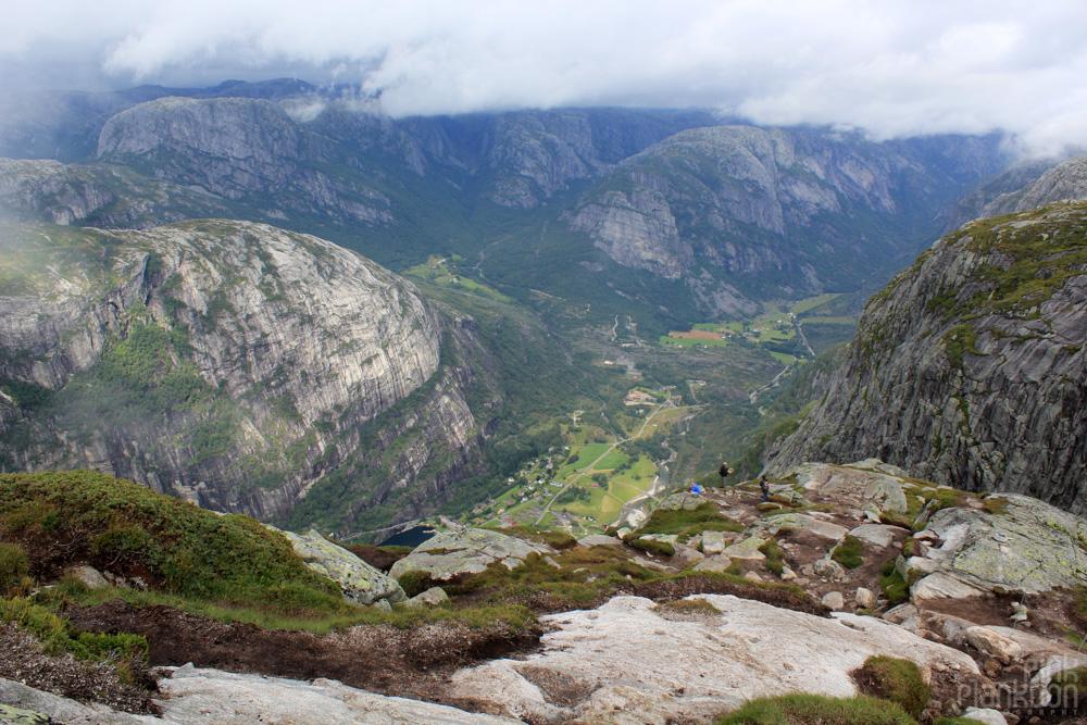 scenery on hike to Kjeragbolten in Norway