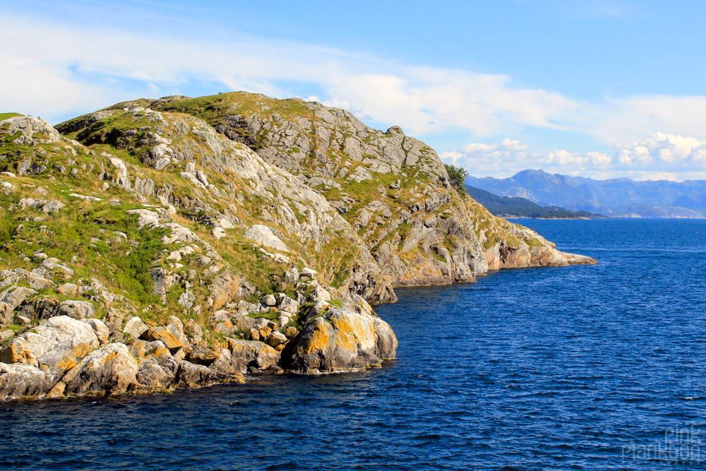ferry ride to Preikestolen in Norway