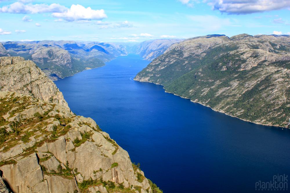 view from Preikestolen in Norway