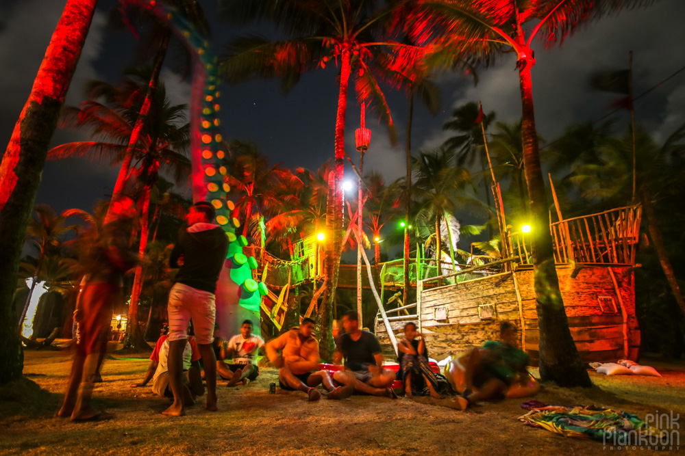Tribal Gathering Festival at night