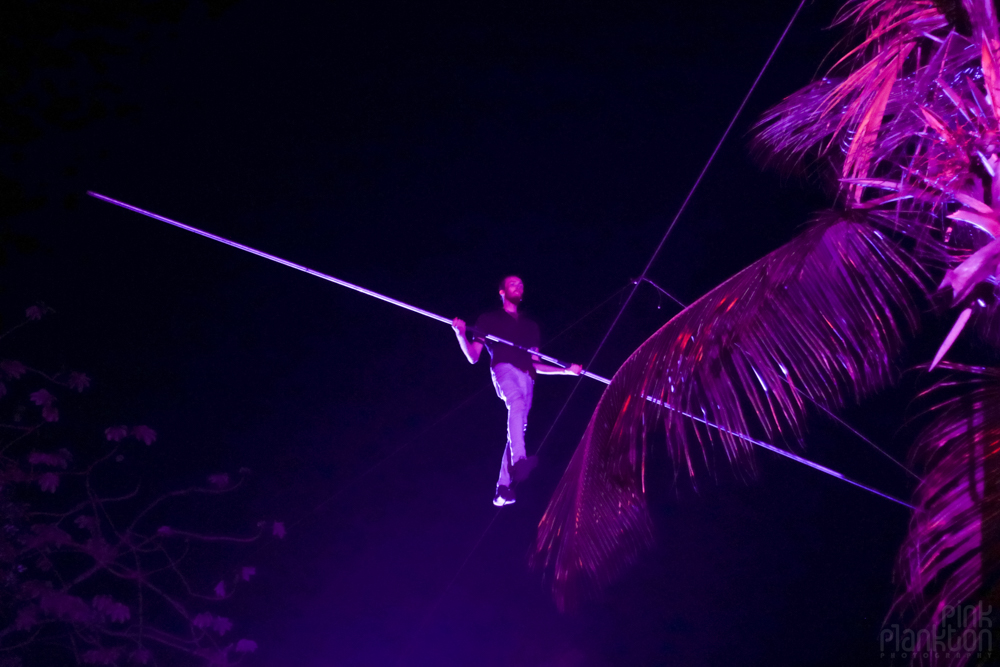 tightrope walker at Tribal Gathering Festival