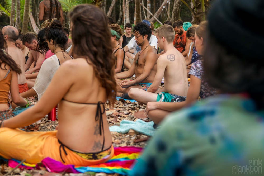 meditation at Tribal Gathering Festival