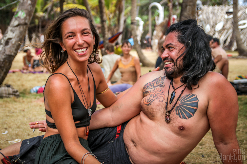 happy couple at Tribal Gathering Festival