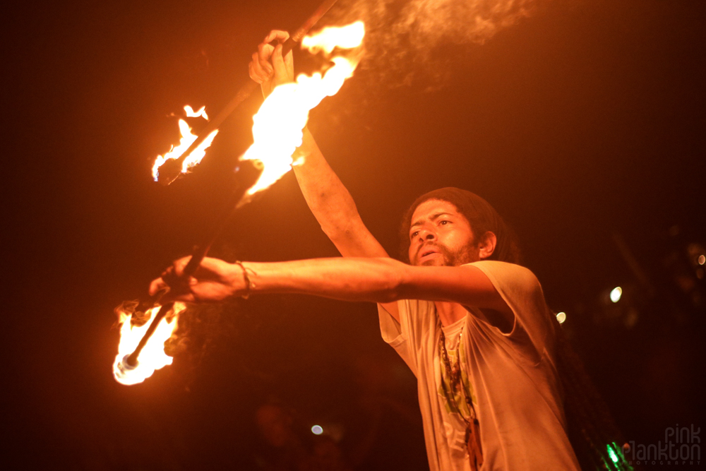 firespinner at Tribal Gathering Festival