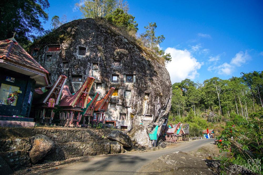 Lokomata burial cave in Toraja village, Sulawesi